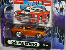 2002 MUSCLE MACHINES '66 Ford Mustang #02-48 Brown Real Riders