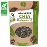 Graines de Chia Bio Minceur Naturel Planète 100% Vegan Régime Protéine 1KG Oméga