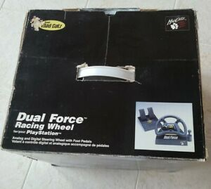 Mad Catz Dual Force Racing Wheel & Pedal for Playstation PS1 in Box