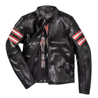 Dainese Rapida72 Black Leather Retro Jacket Motorcycle Jacket New