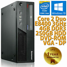Ordinateur PC Bureau Remis à Neuf Lenovo M58P Dual Core RAM 4GB 250GB Win 10