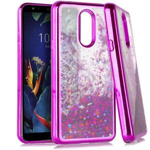 LG K40 / LG X4 / LG Harmony 3 Hard Rubber Waterfall Floating Liquid Glitter Case