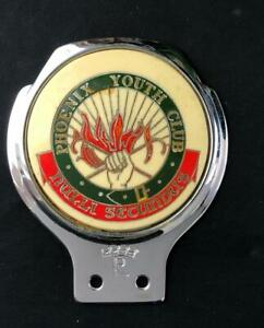 PHOENIX YOUTH CLUB NULLI SECUNDUS SECOND TO NONE CAR BADGE EMBLEM