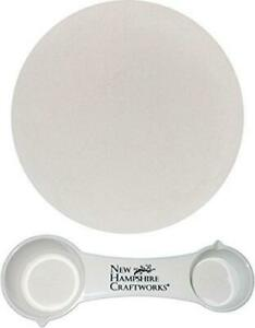 Bullseye Glass Shelf Primer Kiln Wash and NHC Measuring Spoon Set - 1lb Bag