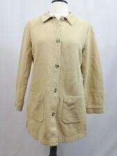 Soft Surroundings Beige Button Down Textured Shirt Jacket Size PM