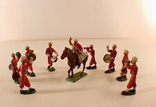Starlux lot de 8 soldats musiciens marocains Nouba au défilé cavalier spahi