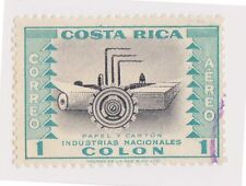(CRA-404)1954 Costa Rica 1col turquoise air national industries Paper (E)