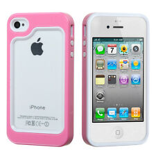For Apple iPhone 4 4S Hard Hybrid BUMPER Case Phone Cover Accessory