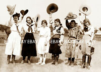 6 1920'S COWGIRL'S OF THE RODEO ROUND UP COWGIRL PRAIRIE ROSE PHOTO