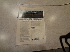 "1974 Beechcraft Baron Vintage Magazine Ad ""Save fuel.  Save Time.  Save money."""
