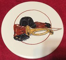 Fox Hunt Horn Helmet and Coat Ceramic Round Hot Plate