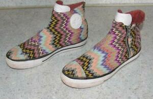 """"""" Converse All Star """" Sneakers Trainers Shoes Colourful With Zip IN Size 3 Or"""