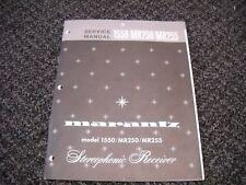 MARANTZ 1550/MR250/MR255 STEREOPHONIC RECEIVER. Service Manual Original Paper