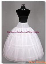 3-Hoop 2 Layer Net Prom Petticoat/Triple Hoop Crinoline/Bridal Underskirt,S-XL