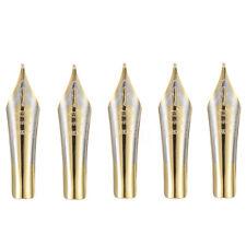 5pcs For Jinhao X450 Fountain Pen Nibs 0.5mm Medium Fine Nib Iridium Tip Gold