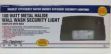Designers Edge L-1904-100W-MH 100 Watt Metal Halide Wall Wash Security Light.