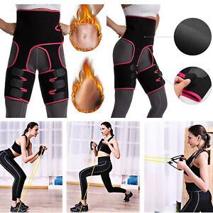 Women's Leg Thigh Trimmers Body Shaper+Resistance Bands 11 PCS Set Yoga Fitness