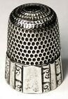 Antique Simons Bros  Sterling Silver Thimble   Fluted Octagon   Dated 1889