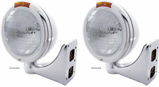 "2xSS ""Classic"" Peterbilt 6014 Sealed Beam Headlight W/Signal Light - Amber"