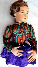 Bambola anni 40/50 sguardo laterale tipo Lenci, da poltrona (no gambe)