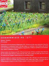 H0 BUSCH Sommerwiese Wildgrasmatte 150 Sommerblumen Mohnblume Kornblume # 1271