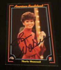 Marie Osmond signed autographed card Paper Roses Nutrisystem doll designer