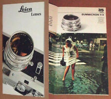 1 X SLIM HALF A5 SIZED 'LEICA LENSES' BOOKLET PUBLISHED BY LEITZ VII/69