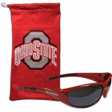 Ohio State Buckeyes OSU Mens Black Red Elite Sunglasses S7JT