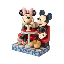 Jim Shore Disney Traditions Mickey and Minnie Mouse in Soda Shop - 4059751