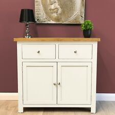 Belgravia White Painted Oak Sideboard / Small / Cupboard / Dresser/ Solid Wood