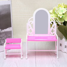 Girls Dress Up House Makeup Table Dresser Chair Set Gifts Children DIY Toys