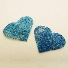 Coeur abaca x 24 turquoise. Décoration de mariage