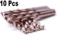 """3/8"""" HSS Cobalt Drill Bit Set Jobber Length Twist Drill Bits M35 Drills -10Pcs"""