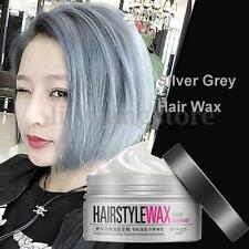 Popular Unisex Silver Grey Wax Hair Cream Pomade Gel Mud Long-lasting Hairstyle