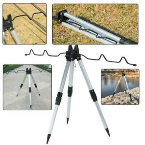 Portable Folding Fishing Rods Tripod Stand Rest Tackle for Outdoor Sea Beach UK