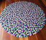 Nine Colour Felt Ball Rug Nepalese Handmade Kids Room Nursery Felt Wool Rugs Mat