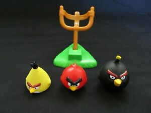 Angry Birds Knock On Wood Game Replacement Parts Pieces 3 Birds & Launcher