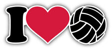 I Love Volleyball Label Car Bumper Sticker Decal 6'' x 3''