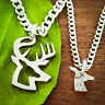 Buck and Doe Necklaces, Inside and outside pieces, Deer Hunting, Hand Cut Coin