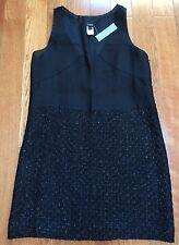 NWT J. CREW Evening Black Silk Dress Tunic Silk Lining Size 2