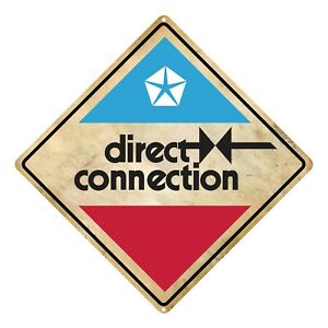Direct Connection Tin Road Sign
