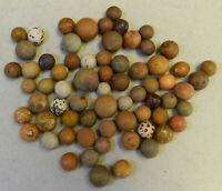 #10230m Vintage Group of Old Clay Marbles .48 to .80 Inches