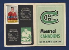 1969-70 O-Pee-Chee MINI-CARD ALBUM Canadiens(with 4 stamps) BELIVEAU!!