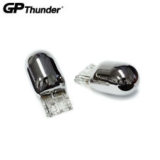 GP Thunder 7443 7443A HiLo Chrome Silver Light Bulb Turn Signal Brake Amber 2pcs