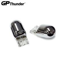 GP Thunder 7443 7443A HiLo Chrome Silver Light Bulb Turn Signal Brake Amber 2pcs