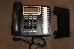Allworx 9224 Black LCD Display Office IP Phone w/ Handset and Stand