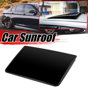 Universal Deflector Sunroof Sun Moon Roof Visor Vent Wind Rain Guard Gloss