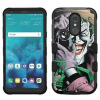 for LG Stylo 4 Armor Impact Hybrid Cover Case Joker #C
