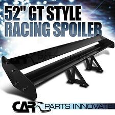 "52"" GT Glossy Black Light Weight Aluminum Double Deck Adjustable Spoiler Wing"