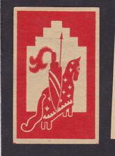 Ancienne  étiquette allumettes Suède  BN43537 Chevalier
